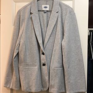 Gray blazer with two buttons
